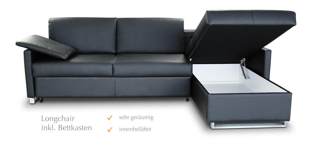 Schlafsofa mit Lattenrost - modernes Sofa und vollwertiges Bett