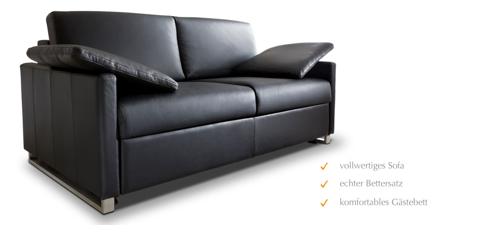 schlafsofa mit lattenrost f r dauerschl fer m belideen. Black Bedroom Furniture Sets. Home Design Ideas